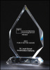Flame multi-faceted Crystal Award